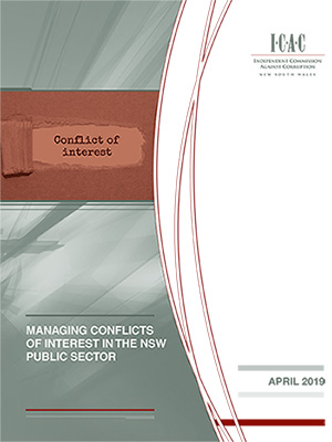 cover of the Managing conflicts of interest report