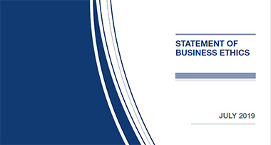 Cover of the Statement of Business Ethics