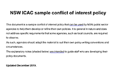 COI sample policy cover