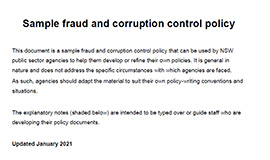 Sample fraud and corruption control policy cover