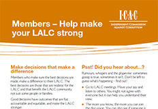 LALC Member Governance Flyer - Help make your LALC strong (2011) cover