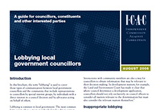 Lobbying local government councillors cover