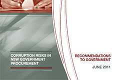 Corruption risks in NSW Government procurement - Recommendations to government cover