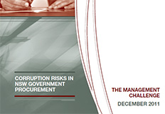 Corruption risks in NSW Government procurement - The management challenge cover