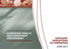 Corruption risks in NSW Government procurement - Suppliers perception of corruption cover