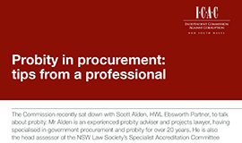 Probity in procurement document cover