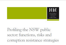 Profiling the NSW public sector, functions, risks and corruption resistance strategies cover