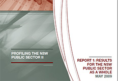 Profiling the NSW public sector II - Report 1, Results for the NSW public sector as a whole cover