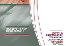 Profiling the NSW public sectior II - Report 2 - Comparison of 2001 and 2007 organisation cover
