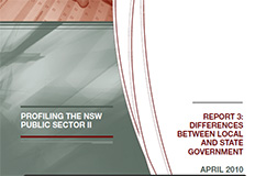 Profiling the NSW public sector - Report 3 (May 2010) cover