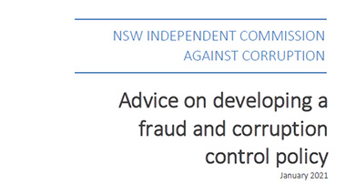 Fraud and Corruption control policy cover